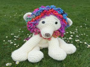 Lottery Mascot knitted creature