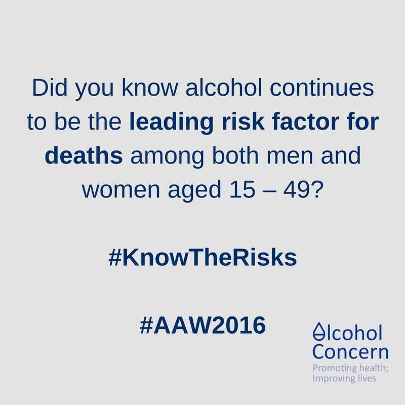 Risk factor - alocohol awareness week