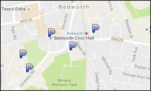 bedworth car park map