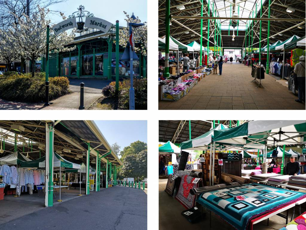 Images of Bedworth market indide and outside