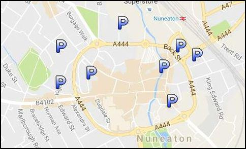 nuneaton car park map