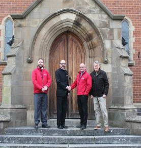 Lovell rep with reps from Our Lady of the Angels Church in Nuneaton