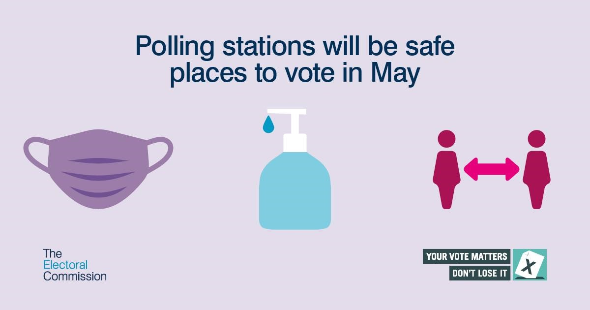 Vote in safety at elections